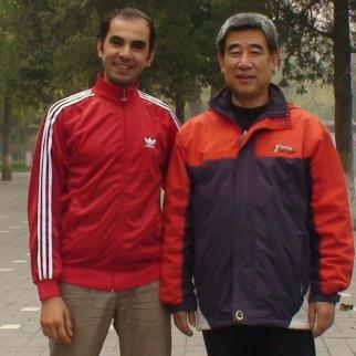 Mohamed with Master Zhong his Chen Tai Chi Master