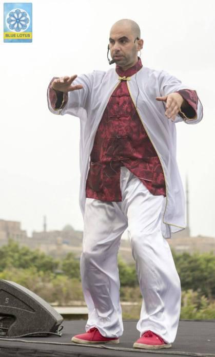 المدرب محمد عيسى في اليوم العالمي للتأمل و السلام الداخلي 2017 world tai chi and chi kung day Egypt 2017 Mohame Essa